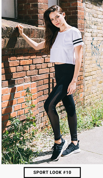 Sport Look_Leggings und Crop Top