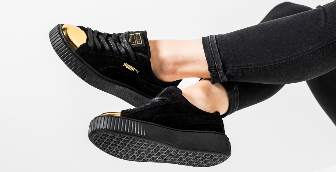 puma suede platform gold toe pack. Black Bedroom Furniture Sets. Home Design Ideas