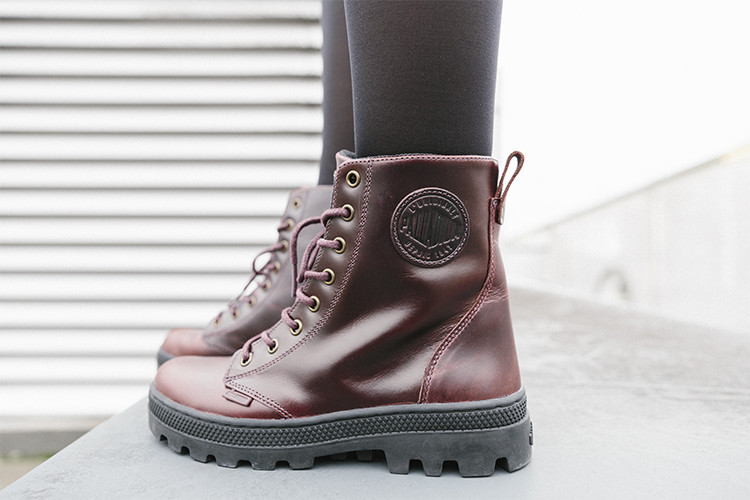 Palladium Boots Pallabosse Off Lea in braun