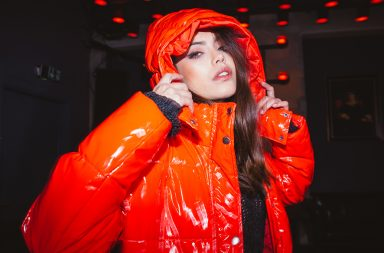 trend farbe rot Jacke banner