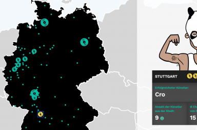 Hip Hop Map Deutschland