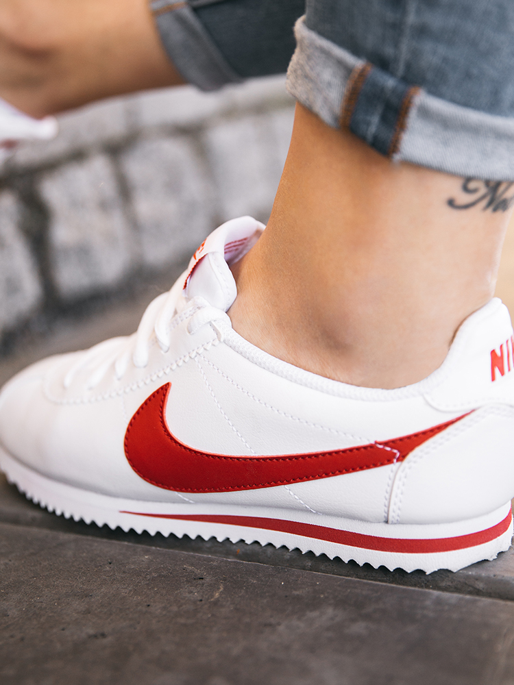nike cortez wit rood