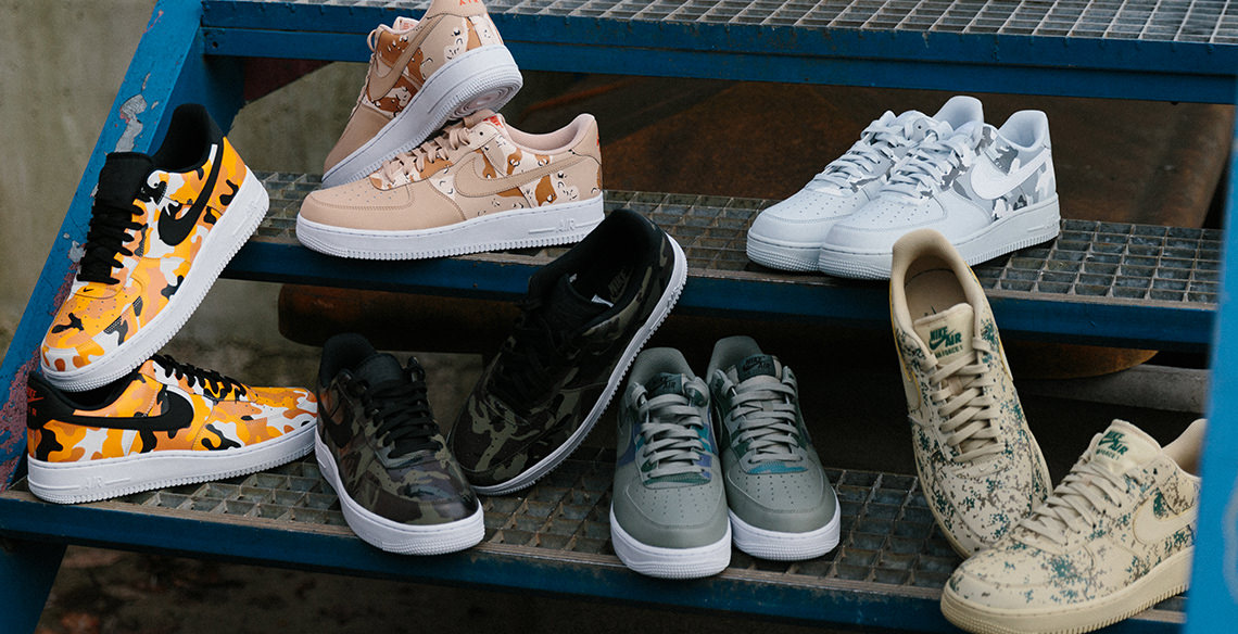 """Release: Nike Air Force 1 '07 LV8 – """"Country Camo"""" pack"""