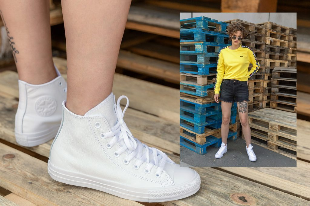 Vrouwen sneakers zomer wit