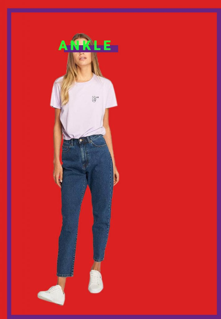 Denim guide ankle jeans